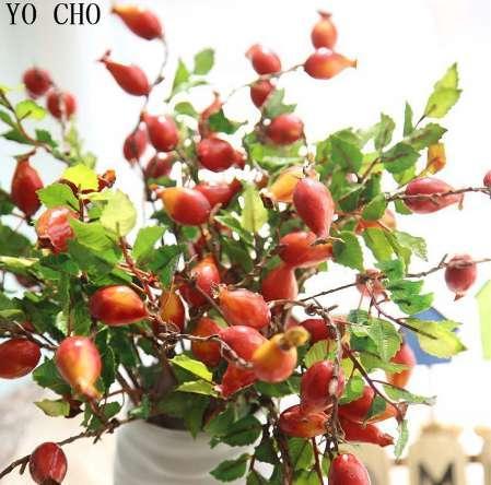 Gefälschte Frucht-Granatäpfel-Beere künstliche Blumen-Schaum-Mittelstück-Stücke des Büro-YO CHO Büro-Geburtstagsfeier-Haus