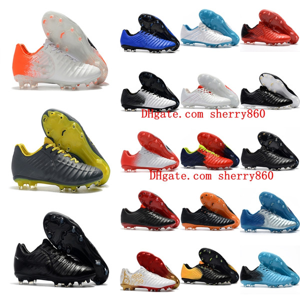 2019 cheap Tiempo Totti X Roma FG 2017 original soccer cleats Tiempo Legend VII FG low top soccer shoes mens authentic football boots