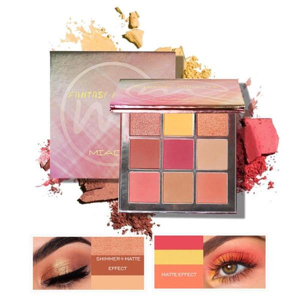 9 Color Waterproof Shimmer Glitter Eye Shadow Powder Makeup Matt Eyeshadow eye shadow palette christmas gift make up tool