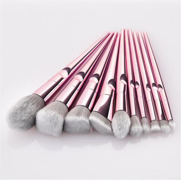 Кисти для макияжа 10 шт. Набор розового золота кисти для макияжа тени для век порошок контур кисти наборы косметики инструменты кисти Фонд кисти 1 компл.