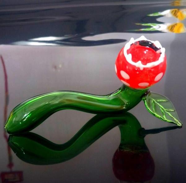 Date Cannibal fleur Forme De Chat En Verre Fumer Tuyaux Huile Rigs Cigarette Tabac À Filtre À Main Tuyaux Pour Outil Bol Brûleurs 5.5 pouces