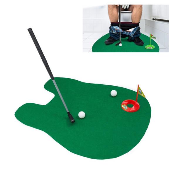Vasino Putter WC Golf Game Mini Golf Set WC Putting Green Novità Gioco relax regalo Per uomini e donne Scherzi pratici
