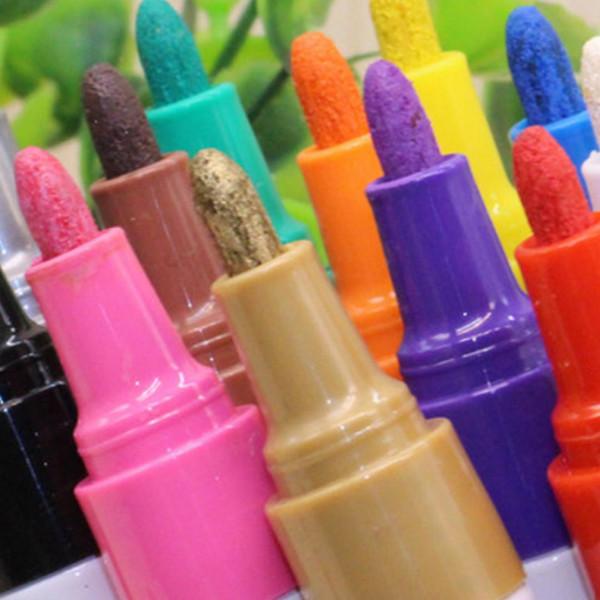 Boya Işaretleyici Renkli Su Geçirmez Kalem Araba Lastik Lastik Sırtı Metal CD Kalıcı Graffiti Marker Kalem Kırtasiye