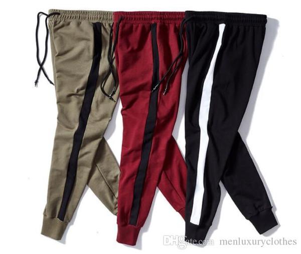 Мужские полосатые брюки-бегунки в стиле хип-хоп, спортивные уличные повседневные брюки-карандаш, одежда для подростков