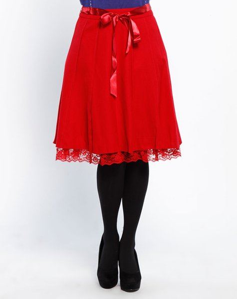 best selling Woman Red Lace flower short skirt