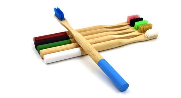 Natura Bamboo attivato carbone vegetale nano spazzolino antibatterico setola morbida fibra di bambù manico in legno sbiancamento dei denti cura orale