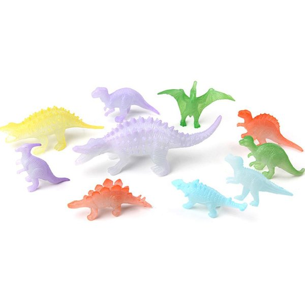 10 Luminous Dinosaur Models Simulation Pterosaurs Animal Above 3 years old 10pcs/Set Educational Set Toys