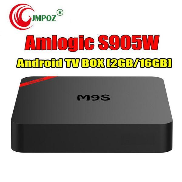 1 PCS Amlogic S905W Smart TV Box Android 7.1 4K Box TV M9S MINI Support Lan WiFi 4K video 3D movies IPTV Media Player