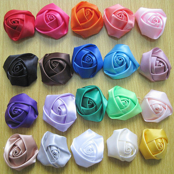 4cm Rose Flower Clothing Accessories For Baby Girl Headbands Hair Clips Girls Corsage Flower Hair Accessories Photography props