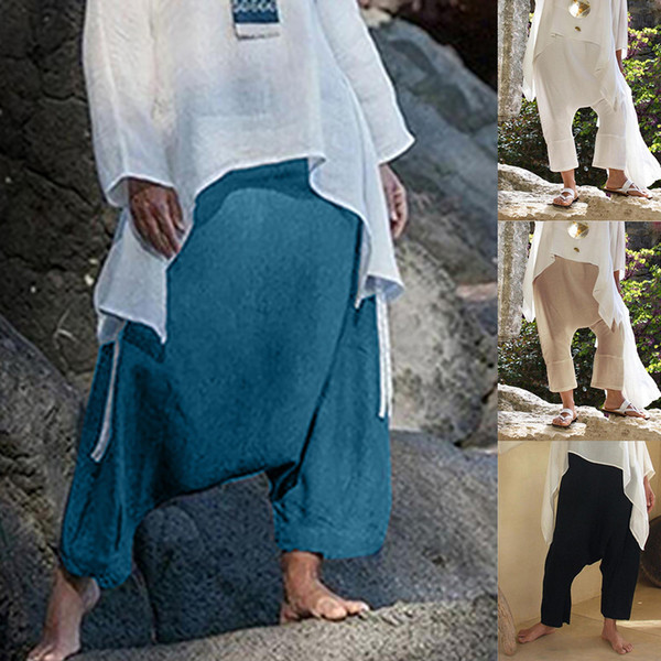 Плюс Размер Брюки Шаровары Женщины Лето 2019 Повседневный Комфорт Прямые Свободные Полосатые Карманные Брюки Женщины Pantalones Mujer
