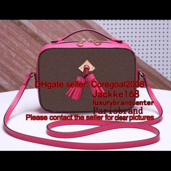 Freesia Sac noir et blanc en cuir de vachette souple SAINTONGE M43559 M43555 M43557 308364 Tassels BAG cross body Sac à main pour femme sac à main