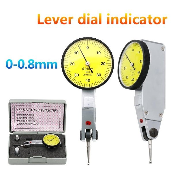 best selling 0-0.8mm Dial Test Indicator 0.01mm dial indicator dial gauge indicator