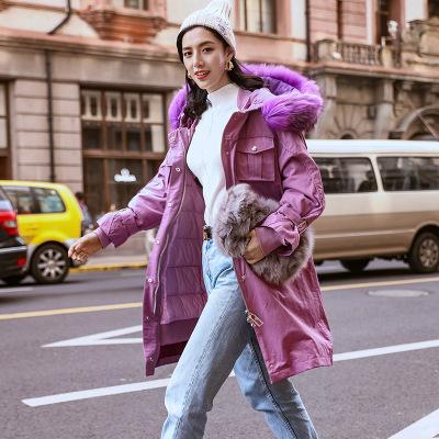 Original Design Woman Pocket Work Clothes Jacket Women's Warm Parka Fur Collar Hooded Winter Thick Duck Down Coat Outwear Down Jacket