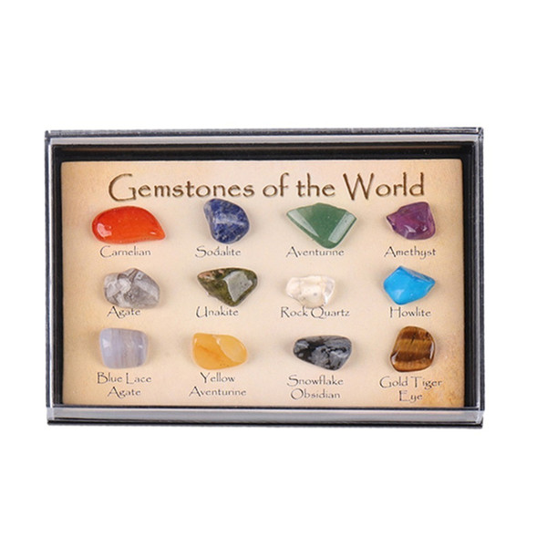 Hot Crystal Gemstone Polished Healing Natural Crystal Gemstone Color Stone Gift Stone Natural Stone Set Mascot Drop Shipping C19021601