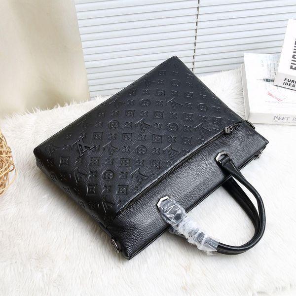 Business Briefcase Leather Plaid Men Bag Computer Laptop Handbag Retro Shoulder Bag High Capacity Messenger Bags Men S File Bags G-6