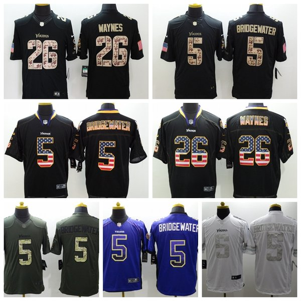 sneakers for cheap 0778e 195cb 2018 New Mens 5 Dan Bailey Jersey Minnesota Vikings Football Jersey 100%  Stitched Embroidery 26 Trae Waynes Color Rush Football Stitching Shirts  From ...