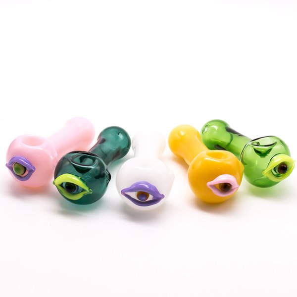 New Arrival 66g Smoking pipes Glass Hand pipe colorful hookah glass pipes for smoking tobacco hand pipes spoon pipe free shipping