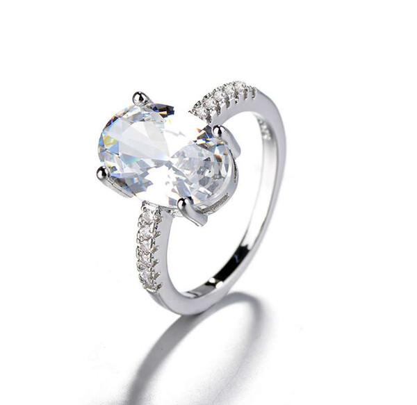 2019 Women Simple Wedding Ring Fashion Bridal Fashion Jewelry