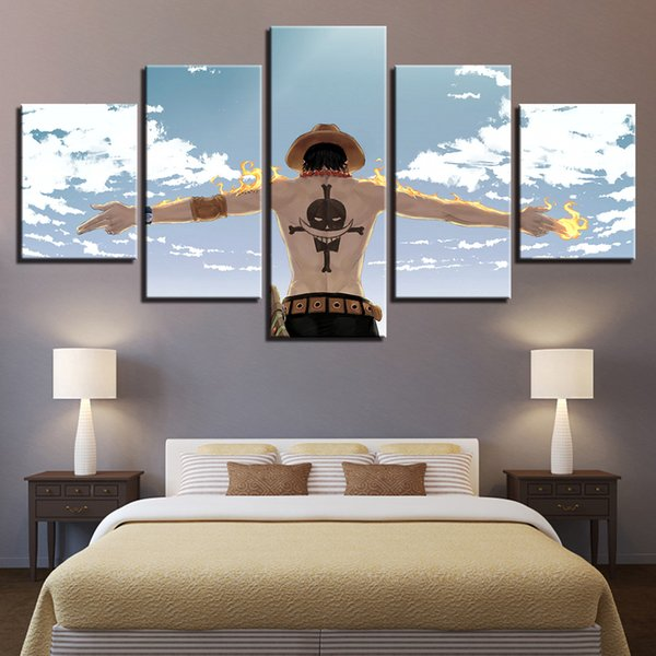 HD Printed Wall Art Painting Modular Modern Canvas 5 Pieces Anime Cartoon Characters Home Decor Living Room Pictures Framework