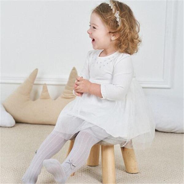 Roupas de natal do bebê crianças meninas rosa impressão manga comprida dress listrado saias dia de ação de graças roupas frete grátis