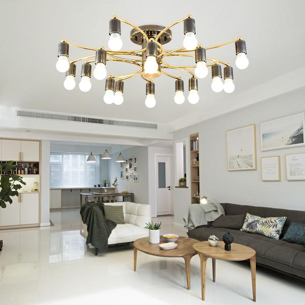 Nordic deckenleuchte licht luxus einfache wohnzimmer schlafzimmer pendelleuchte kreatives design LED schwarz gold kronleuchter beleuchtung E27