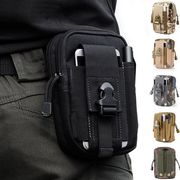 TAK YYYING Tactical Molle Pouch Cinturón Bolso Militar Fanny Pack Bolsas al aire libre Caja del teléfono Bolsillo para la caza Bolsos # 28611