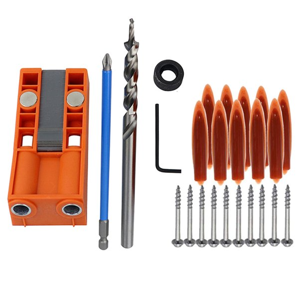 Drill Guide Set Woodworking Hole Puncher Drilling Inclined Hole Jig Locator DIY Tool _WK