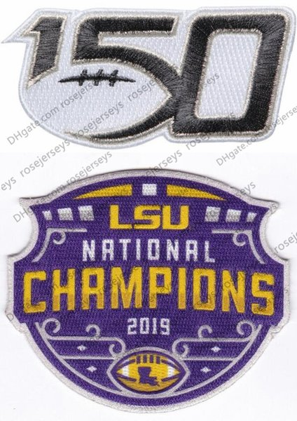 2019 LSU Champions & 150TH Patches
