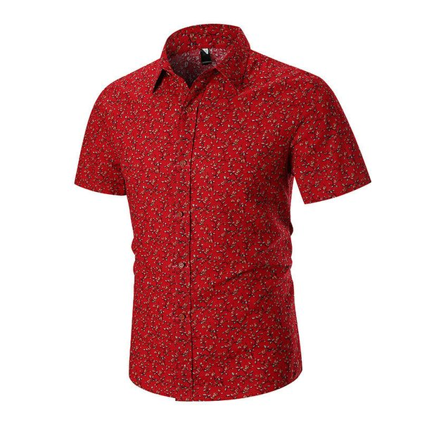 Mens Designer Colorful Shirts Floral Pattern Print Single Breasted Short Sleeve Shirt Fashion Male Casual Tops