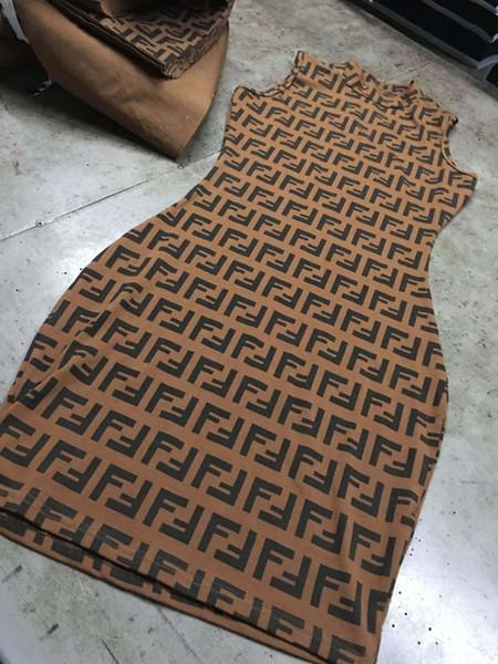 Dress Small Finn House F Letter High Collar Slim Package Skirt JitterDirect sales