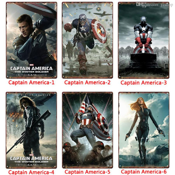 Satin Al Toptan Marvel Kahraman Kaptan Amerika Metal Isaretleri