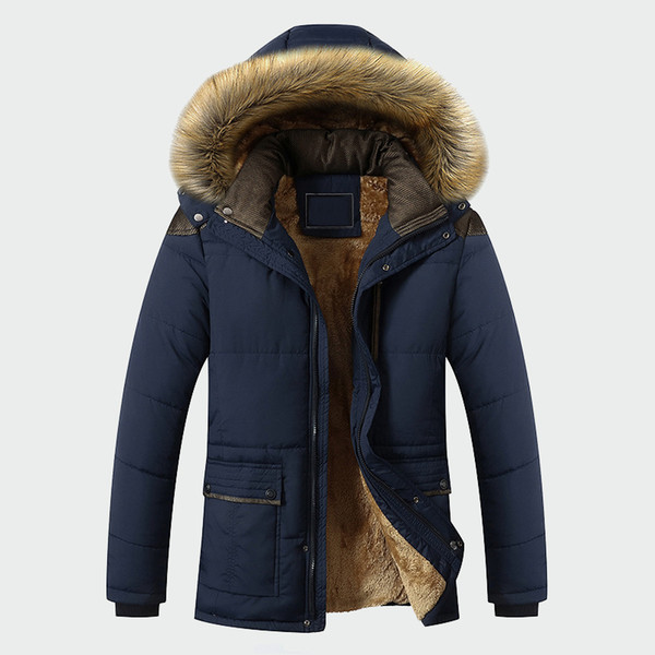 Winter Jacket Men Brand Clothing Fashion Casual Slim Thick Warm Mens Coats Parkas With Hooded Long Overcoats Male Clothes Ml026 T2190603