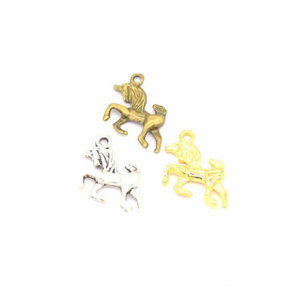 2019 New hot sale Metal alloy Charm Pendants Cute Unicorn Shape Pendants DIY Necklace Bracelet Jewelry Accessories