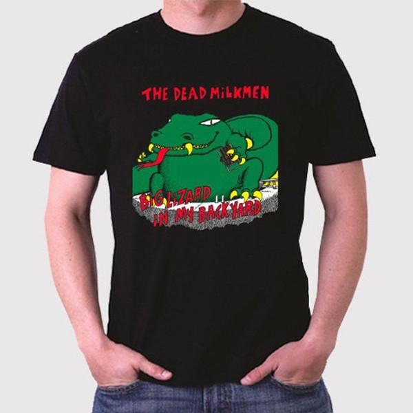 The Dead Milkmen Big Lizard in My Backyard Men's Black T-Shirt Size S to 3XL
