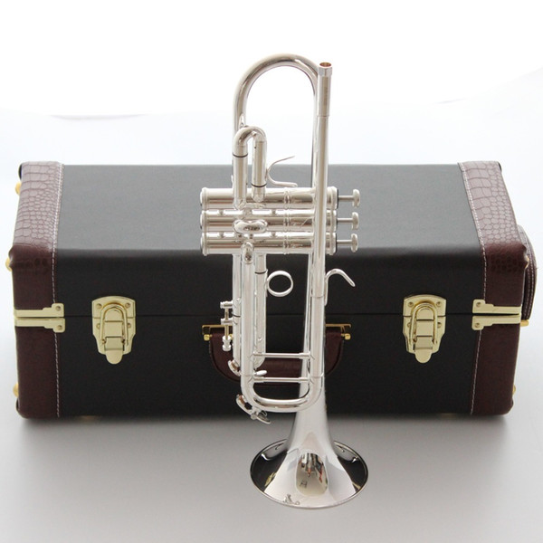 Brand New Vincent Shrotenbach Stradivarius Professional Bb Trumpets AB-190S Silver Plated Trumpet Mouthpiece Accessories Case