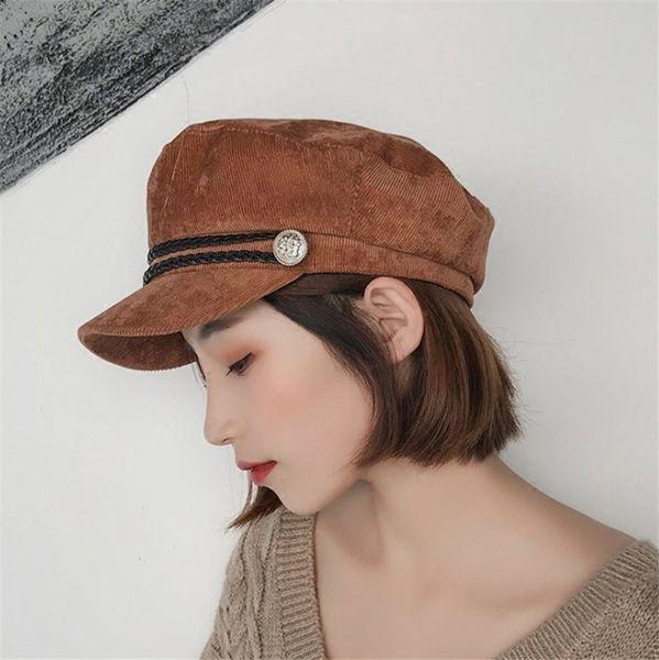 New Women Spring Berets Autumn Woman Wool Beret Hats Princess Hat Caps Corduroy Caps Fashion Beanie