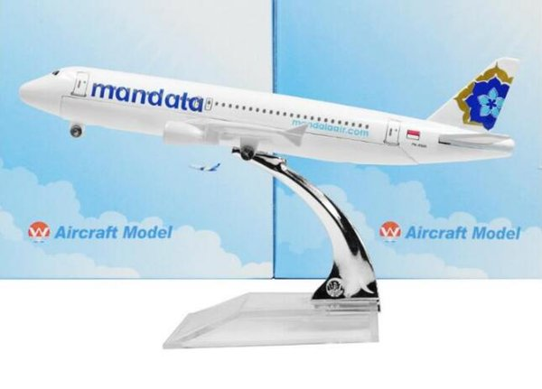 Indonesia Mandala Airlines Airbus 320 16cm Model Airplane Kits Child  Birthday Gift Plane Models Toys Christmas Gift Kids Toys Display Model  Airplanes