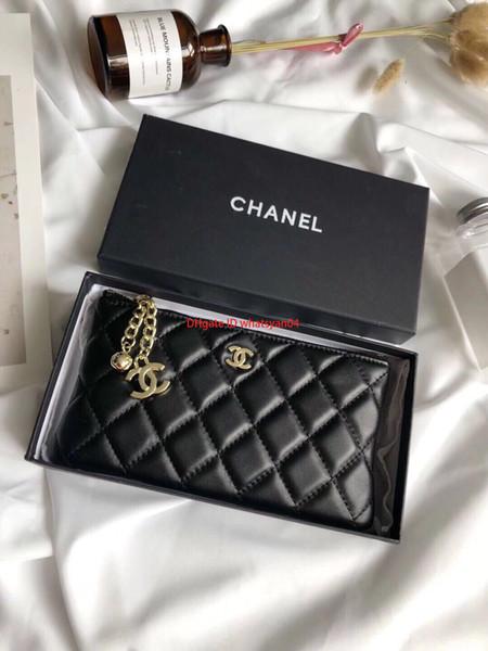 Portefeuille pour femmes taille 18 * 9 cm livraison gratuite sensation douce mode plaid dame porte-monnaie suspendu design carte paquet