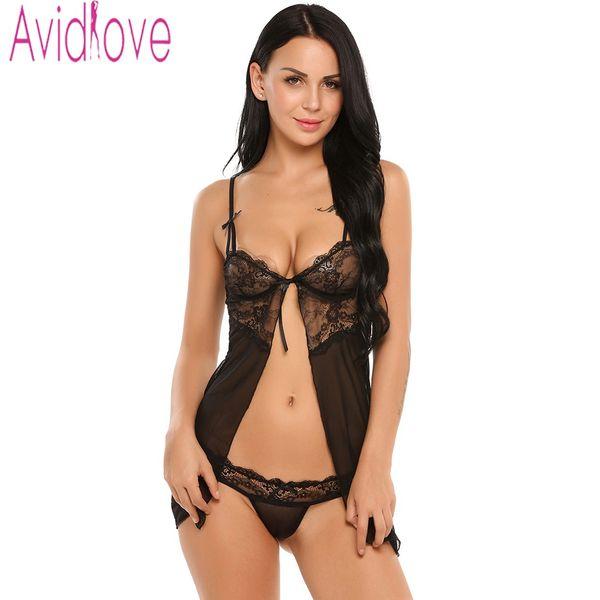 Avidlove сексуальное женское белье фантазии нижнее белье с стринги фитнес Babydoll ночное белье сексуальное женское белье горячее нижнее белье кружева пижамы D18120802
