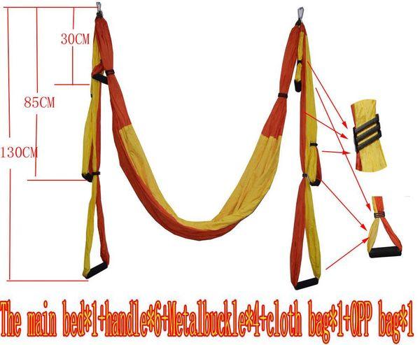Atacado-air flying yoga hammock aéreo rede hammock cinto de fitness balanço de rede com carga de 440lb