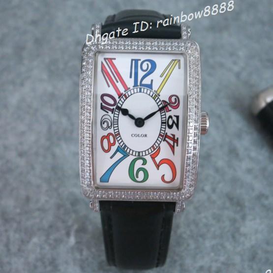 Швейцарские кварцевые бриллиантовые часы с бриллиантами, прямоугольные пары, наручные часы, черный кожаный ремешок с застежкой в стиле моде 514