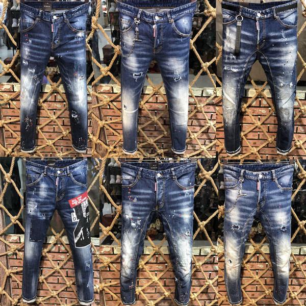 2019 nouvelle marque italienne de jeans pour hommes de haute qualité mode jeans classiques de la marque pantalons pour hommes l'automne et l'hiver de nouveaux produits