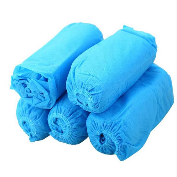 Cubiertas desechables para calzado de botas desechables 100 unidades / paquete Durable, resistente al agua, antideslizante, botines de botas resistentes, no tóxicos, reutilizables