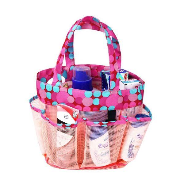 Fashion Mesh Tote Beach Bag Shopping Grocery Shoulder Handbag Purse Large Capacity Toiletry Organizer