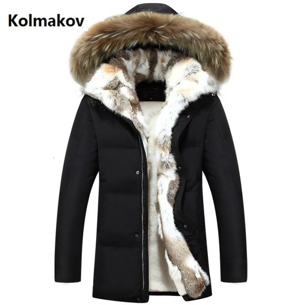 2019 Winter Men and women high quality Down Jackets Men's Fashion Rabbit's hair down Jacket Casual Thicken Parkas coat men S-5XL SH190929