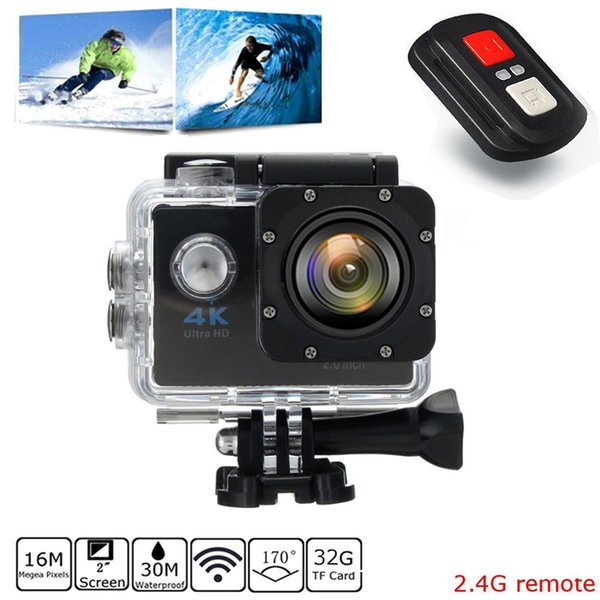 Camera Sports DV Video Camera 2 inch Full HD 1080P 12MP 170 degree Wide-angle Camcorder 30M Waterproof Car camcorder