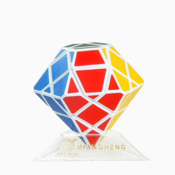 Third-order Best-seller creative shaped stickers child Magic Cubes diamond black / white puzzle entertainment toys sale