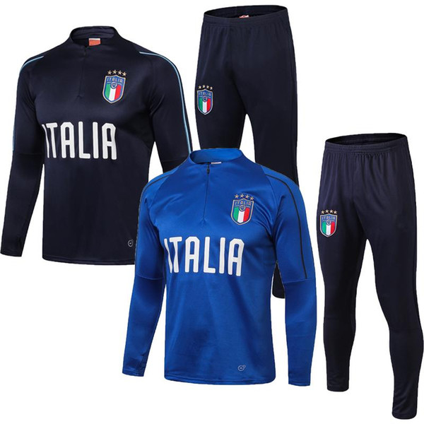 2018 World Cup Italy soccer Jersey TRAINING SUIT De Rossi Bonucci Verratti Chiellini INSIGNE Belotti Football Uniform TRACKSUIT SPORTSWEAR