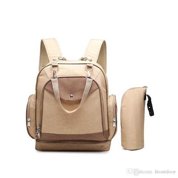Moda Casual Mommy Baby Diaper Bag Handbag Organizer Mummy Backpack Outdoor grande capacidade Maternidade Nappy Bags Outdoor Viagem Pacote