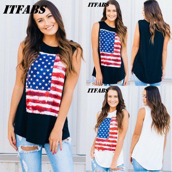 Beiläufige Frauen-Weste-Sommer-lose gedruckte ärmellose Behälter-T-Shirt Spitzenbluse S-XL